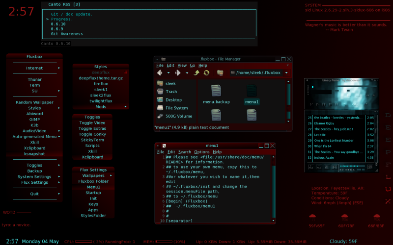 Fluxbox with style Deepflux, and GTK theme Deepcyan